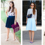 styling a pleated skirt