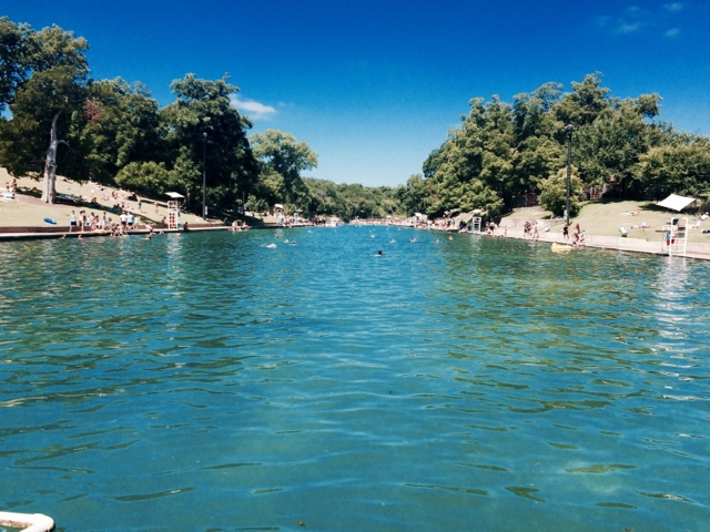 afternoon in austin: barton springs