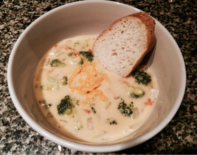 meatless monday: broccoli cheese soup