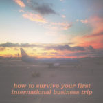 10 tips to survive your first international business trip
