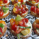 tomato and feta crostini
