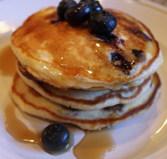 blueberry pancakes from scratch