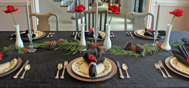 a bright and budget-friendly christmas tablescape