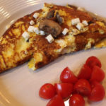 caramelized onion and mushroom omelet