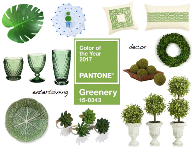 at home with 2017 pantone color: greenery