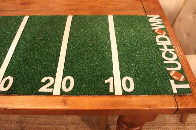 how to make a football field table runner