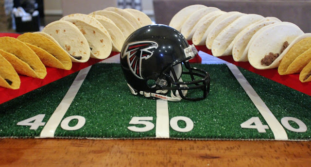 super bowl LI tablescape