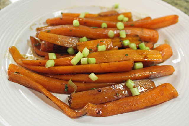 grilled glazed carrots