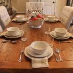 styling our casual wedding china