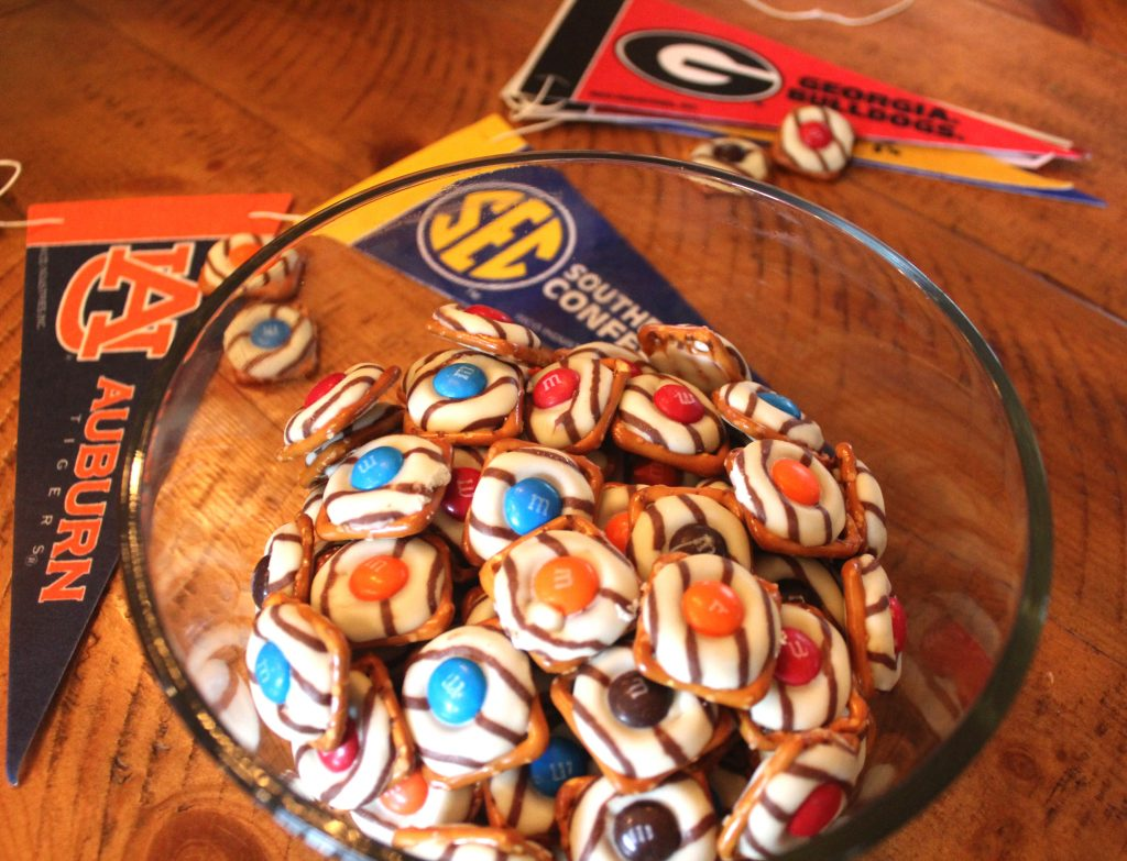 gameday pretzel m&m bites
