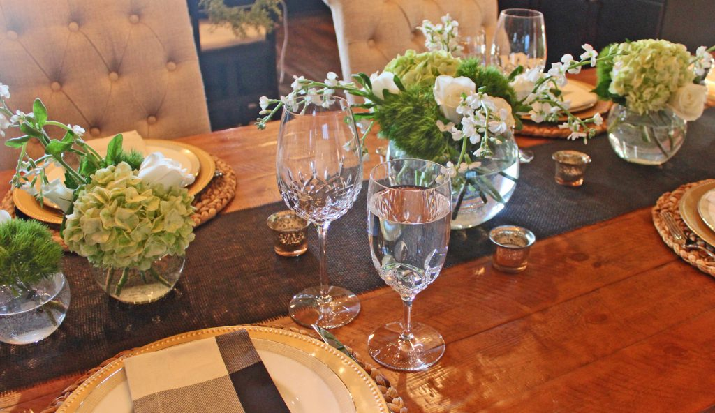 a fresh winter dinner party